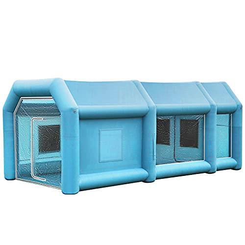 VEVOR Aufblasbare Sprühkabine Zelt 8x4,5x3m Aufblasbare Lackierkabine Zelt Spritzkabine Großes Autozelt Partyzelt Campingzelt Luftzelt mit 2 elektrische Gebläse