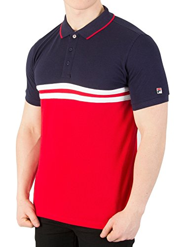 Photo of FILA VINTAGE Domeneco Cut & Sew Block Polo Shirt Large 40″ Chest