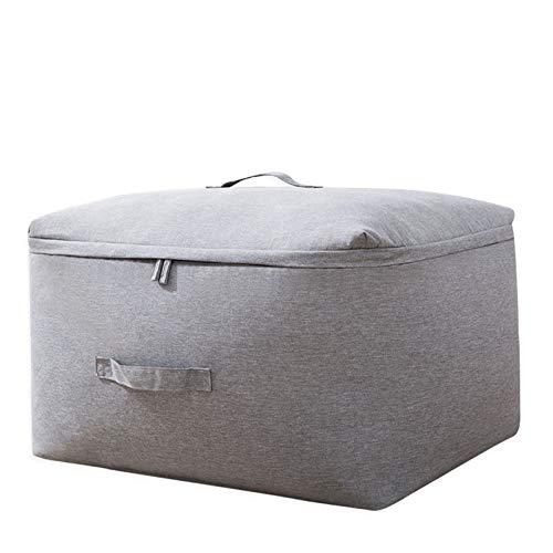 Lienzo ropa de almacenamiento bolsa edredón closet suéter organizador manija bolsa de almacenamiento familia ahorro espacio organizador bolso de viaje ( Color : Grey , Size : XXL about 63x48x35cm )