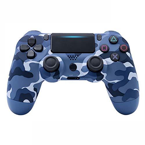 SYCYXFYT Mando inalámbrico para PS4 Remote para Playstation 4 con Cable de Carga y Doble Descarga,Azul