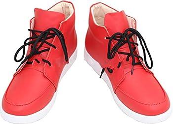 Whirl Cosplay Boots Shoes for My Hero Academia Midoriya Izuku red