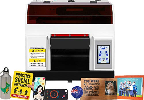 DTG Printer, A4 Flatbed Printer with Touch Screen Fort-Shirt/Non-Woven/Fabric/PantsPrinting,Flatbed Size 11.69' x 8.27'(with Clothing Mould and Ink)