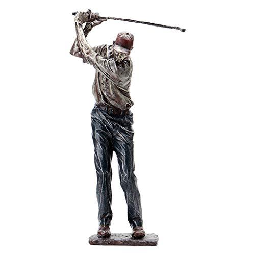 WDFVGEE Estatua de golfista retro resina vintage figuras deportivas hogar oficina sala decoración decorar tu escritorio