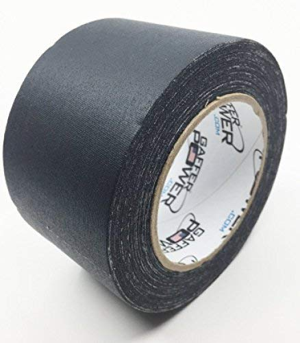Real Professional Premium Grade Gaffer Tape by Gaffer Power - Made in The USA - Heavy Duty Gaffers Tape - Non-Reflective - Multipurpose - Better Than Duct Tape! 3 Inch X 30 Yards - Black