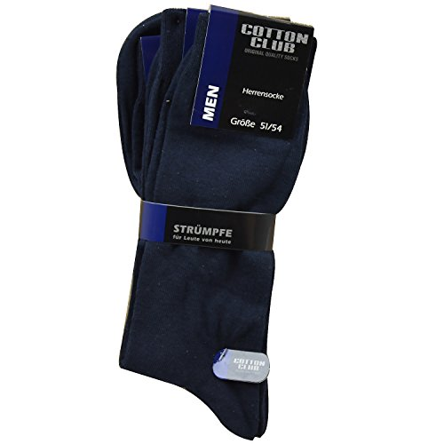 Cotton Club Herren 4064 Business - & Freizeit Socken in Übergröße 6er Pack (51-54, marine)