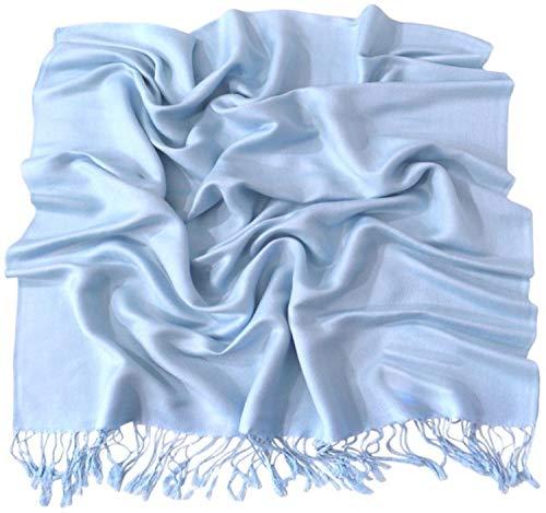 CJ Apparel CJ Apparel Babyblau Einfarbiges Design Stola Schal Umschlagtuch Schultertuch Tuch Neu