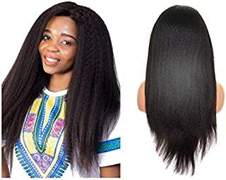 Everbetter Hair Italian Yaki Silk Top 360 Lace Frontal wig with Baby Hair Pre Plucked 150% Density 360 Lace Front Human Hair Wigs For Women Natural Color (16
