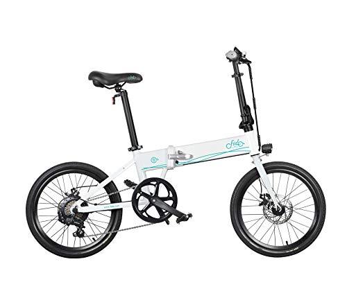 Topxingch Bicicleta Eléctrica Plegable para Adultos Motor 250W 3 Niveles Moped Modo...