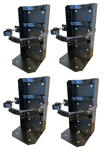 10 lb Co2 Carbon Dioxide Tank and Fire Extinguisher Vehicle Mount Bracket PACKAGE OF 4 BRACKETS
