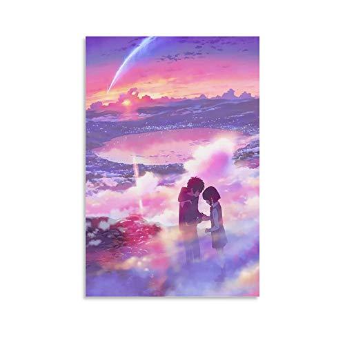 DRAGON VINES Your Name Animation Movie Makoto Shinkai Tachibana Taki Miyamizu Mitsuha Meteor Encounter Dating Art Leinwand Poster Wanddekoration HD Druck Advanced Canvas Wall Art 40 x 60 cm