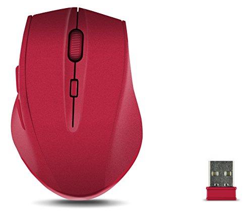 Speedlink CALADO Silent Mouse - Kabellose und leise Maus für den Büroalltag - rot