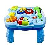 Heylas Musical Lerntisch Babyspielzeug 2 in 1 Früherziehung Spielzeug Music Activity Center Tisch für Kleinkinder Kleinkind Jungen Mädchen
