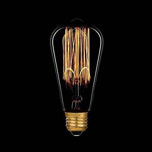 Paulmann Glühbirne Rustika 40W E27 Vielfachwendel ähnlich Kohlefadenlampe 550.40 Retro Nostalgie Vintage Glühlampe extra warmweiß dimmbar (1 Stück)