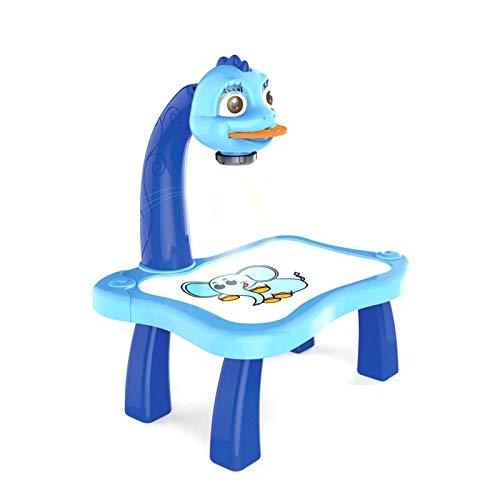 MEYANG Tavolo da Disegno per Bambini Proiettore Set, Tavolo da Gioco per Bambini con proiettore Intelligente Tavolo da Disegno per Bambini con Tavolo da Disegno per Bambini