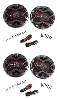 4  New BOSS CH6520 6.5  2-Way 500W Car Coaxial Audio Speakers Stereo Red 6 1/2