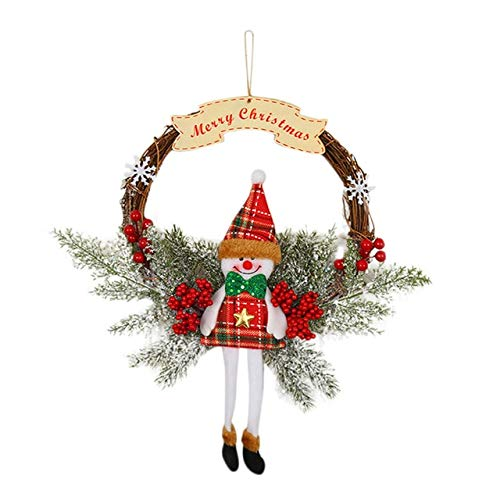 US Warehouse - Wreaths & Garlands - Garland Arrangement Christmas Ornament Christmas Wreath Decorative Wreath Christmas Decorations - (Color: B)