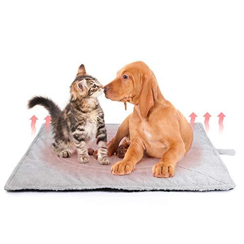 Toozey Selbstheizende Decke für Katzen & Hunde, Größe 90×65 cm Wärmematte für Haustiere, Katzendecke