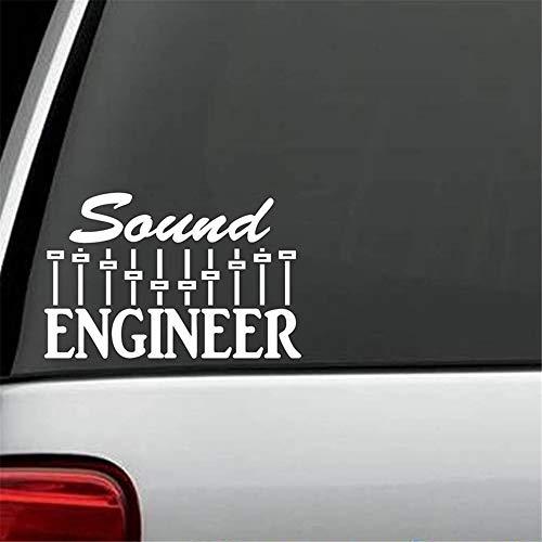 Autosticker, autostickers, toningenieur, stickers, muziek, mixer, sub woofer drums, gitaar, bas keyboard, leuke en coole stickers