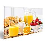 Bild Bilder auf Leinwand Frühstück mit Gebäck, Kaffee