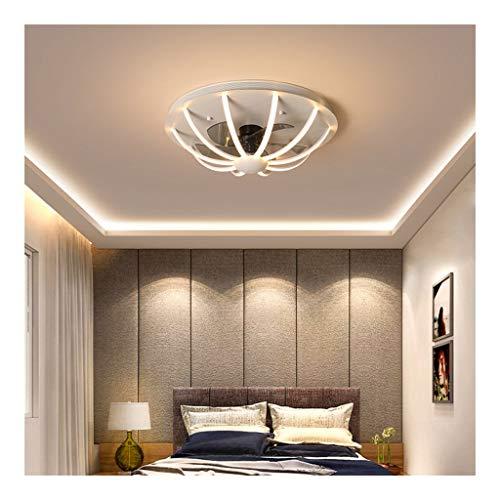 60cm Light Fan Met Dimmer,Kroonluchter Plafond Ventilator Met Verlichting Verstelbare Wind Speed met Afstandsbediening, 64W Plafond Light Led Plafondlamp For Slaapkamer Woonkamer(wit,Zwart,Goud)