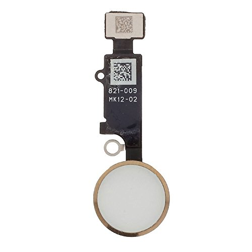 Replacement Home Button for iPhone 7 / 7 Plus with Flex Cable Touch ID Sensor Home Key Assembly (Gold) ,Reemplazo de botón de inicio con cable flexible para iPhone 7/7 plus - botón de inicio botón oro