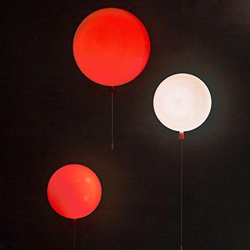 JJZHG wandlamp binnen muur lamp kleur ballon muur lamp creatieve persoonlijkheid kinderen kamer gangpad lichten led slaapkamer nachtkastje muur lamp, oranje muur lamp 30 cm omvat: wandlampen