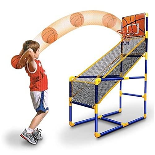 Conjunto de juegos de baloncesto de Arcade para ni Kids Basketball Net And Pumps Arcade Game Outdoor Indoor Sports Game Set Para 3 Años De Antigüedad Y El Asador De Baloncesto Y Soporte Juego en Inter