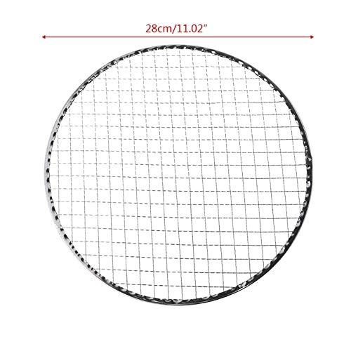 Jinqiuyuan Eisen Einweggrill Grill Basket mesh-Drahtnetz Fleisch Fisch Gemüse Werkzeug Hot (Size : 28CM)