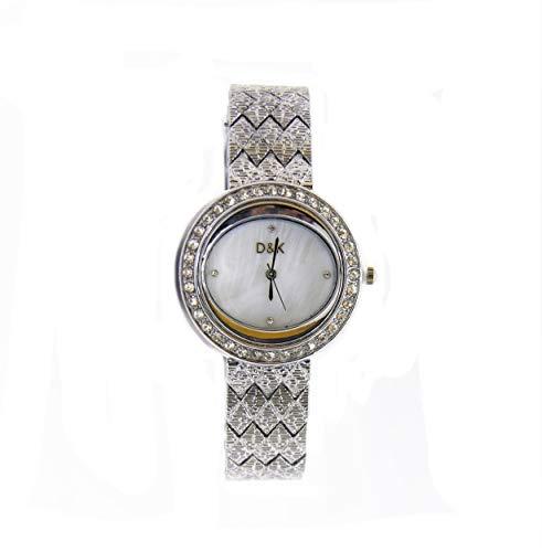 Reloj Mujer, Chica, Fashion, Correa metálica Original, con Piedras en Esfera y...