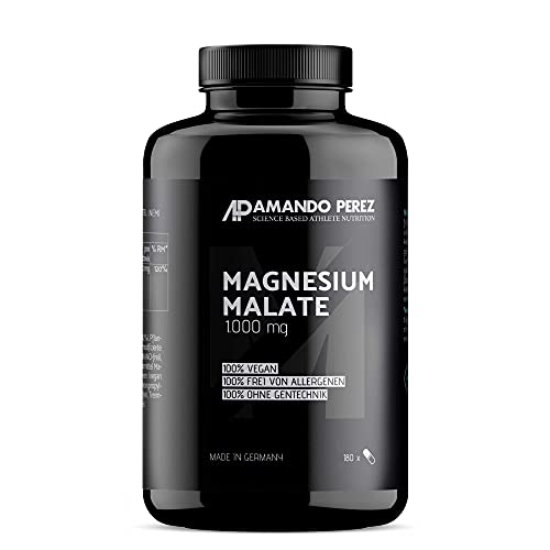 Magnesium Malate 3.000 mg pro Portion • 180 vegane Tabletten • Hochdosiert • Made in Germany