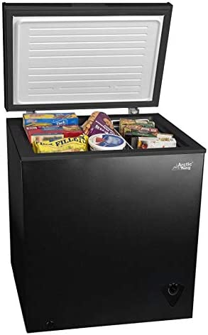 5cf Chest Freezer Deep 5 Cu Ft Compact Dorm Upright Apartment Home Food Storage Compact Space product image