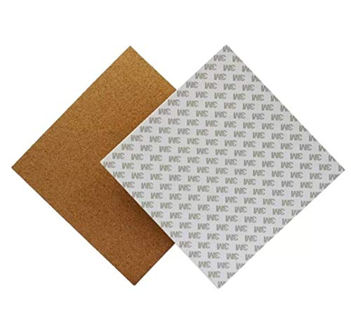 SPRINGHUA 3D Printer Accessories, Heated Bed 300 * 300 * 3mm Hotbed Thermal Pad Insulation Cotton with Cork Glue Compatible with 3D Printer Reprap Ultimaker Makerbot Printer