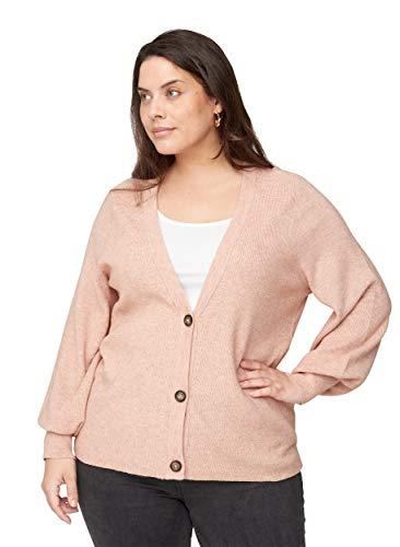 Zizzi Große Größen Damen Strickcardigan mit V-Ausschnitt Gr 50-52 Rosa
