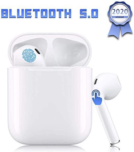 I12 TWS Bluetooth-Headset 5.0, drahtloses Touch-Headset, wasserdichtes IPX7-Sport-Headset mit Mini-Ladetasche, integriertes HD-Mikrofon, kompatibel mit Android/iPhone/Apple/Airpods pro-Weiß