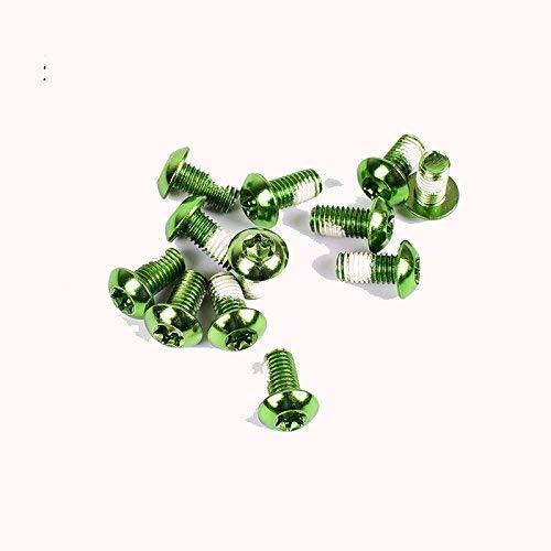 Mountain Bike Disc Brake Rotor Bolts MTB Bicycle M5x10MM Brake Rotor Screws 12pcs/lot (Green)