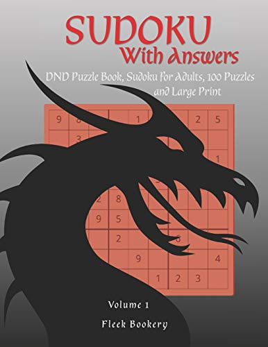 Sudoku With Answers: DND Puzzle Book, Sudoku for Adults, DND Player Gift, D&D, Dungeon and Dragons, RPG, Volume 1