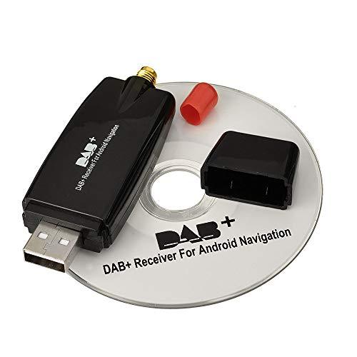 Eightwood DAB+ Stick USB 2.0 Digital Radio Tuner Empfänger für Android 4.0 Auto DVD Spieler Stereo USB DAB Autoradio MEHRWEG