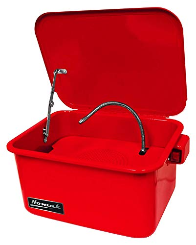 Homak 3-1 2-Gallon Parts Washer, Red, RD00803180