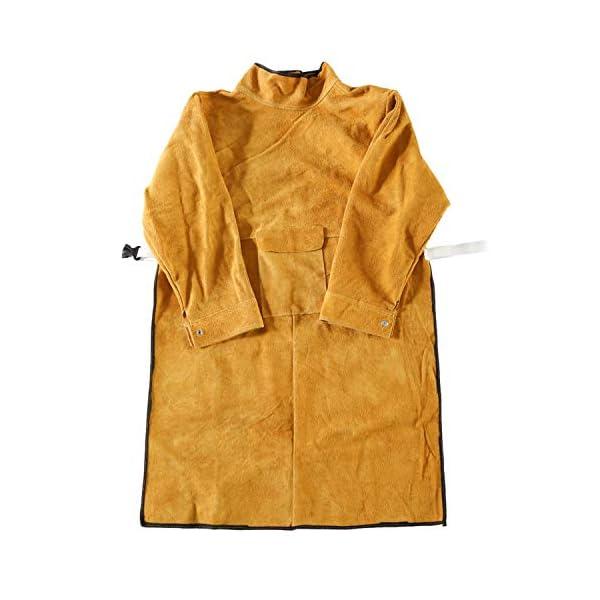"41"" Long Cowhide Leather Welding Jacket 2"
