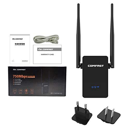 COMFAST CF-WR750ACV2 - Repetidor inalámbrico wifi (750 Mbps, router de doble banda 5 GHz, 802.11AC Wi Fi, router)