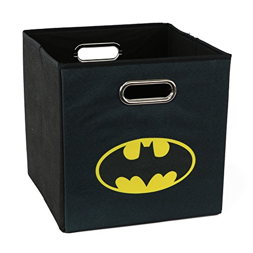 Batman Folding Storage Basket, Black - Collapsible Storage Bin for Toys - Bedroom Organizer - Foldable Bin with Large Capacity. Kid's Room Decor