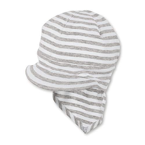 Sterntaler Mädchen Piratentuch mit Nackenschutz Mütze, Weiß, 53