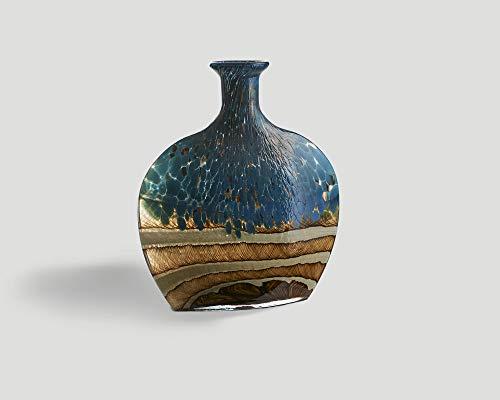 Dialma Brown Designer Deko Vase Giulia Coloured Brown Blue - Höhe 35 cm x Länge 29 cm - Tiefe 10 cm