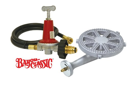 Bayou Classic 5HPR-40 0-40 PSI Adjustable Regulator & BG14 Burner Combo Kit Perfect for Making Custom Grills or Smokers or Brew Systems or Mini Foundries