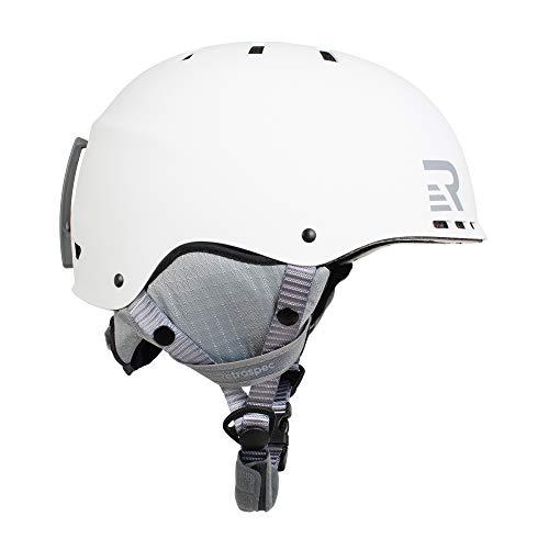 Retrospec 3489 Traverse H2 2-in-1 Convertible Ski & Snowboard/Bike & Skate Helmet with 14 Vents; Matte White/Grey, Small/Medium 54-58cm