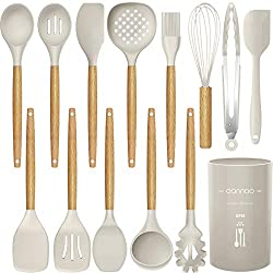 small 14-piece silicone cookware set, heat resistance up to 446 ° F, turner …