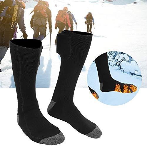 Calcetines térmicos eléctricos seguros, calcetines prácticos para calentar los pies, unisex de alta calidad, suave y duradero para hombre y mujer, mantener el calor