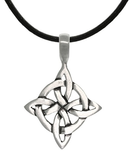 Jewelry Trends Celtic Good Luck Knot Pewter Pendant Necklace 18'
