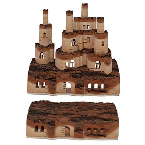 Tauzveok Castillo,Un Castillo de Madera Maciza Tallado en 3D Que se Levanta con una explosión,- 1/2/3/4/5 Pisos,Regalos para la Familia/Amigos,ZM31