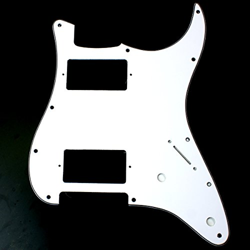 (B27) Custom Strat style HH Layout Guitar Pickguard 2-control ,3ply White